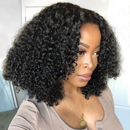 ISEE HAIR New Arrival Upart Wig , Natural Black Kinky Curly Wigs
