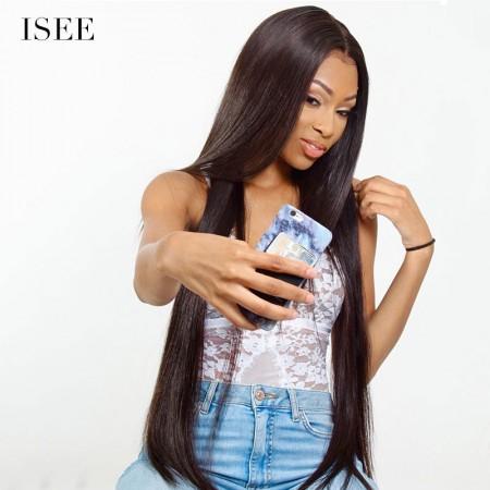 ISEE HAIR Brazilian Straight Hair 4 Bundles 9A Grade 100% Human Virgin Hair unprocessed