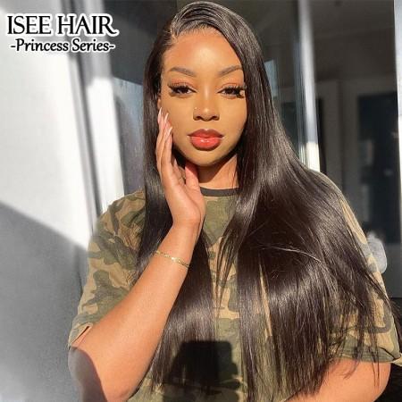 ISEE HAIR Straight 360 Lace Wigs 100% Human Virgin Hair 360 Wigs