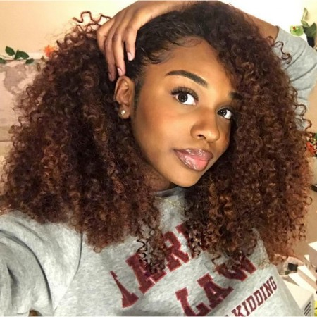 ISEE HAIR Mongolian Kinky Curly 4 Bundles Deal 9A Grade 100% Human Virgin Hair unprocessed