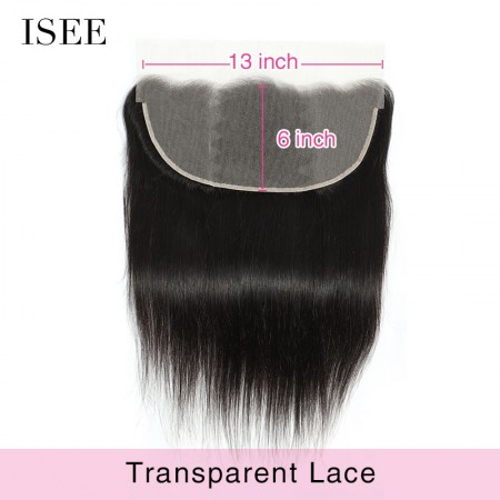 ISEE HAIR 13*6 Transparent Frontal Lace for All Hair Texture
