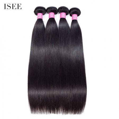 ISEE HAIR 10A Grade 100% Human Virgin Hair unprocessed Malaysian Straight Hair 4 Bundles Deal