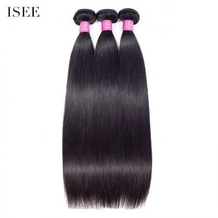 ISEE HAIR 10A Grade 100% Human Virgin Hair unprocessed Malaysian Straight Hair 3 Bundles Deal