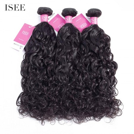 ISEE HAIR 9A Grade 100% Human Virgin Hair unprocessed Brazilian Natural Wave Bundles Deal