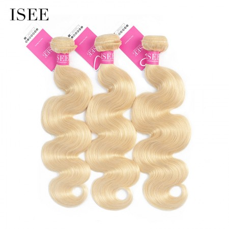 Color 613 Blonde Body Wave Bundles Deal Double Weft Human Virgin Hair