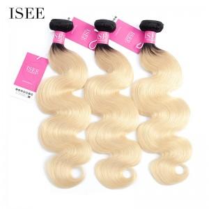 Color 1B/613 Ombre Body Wave Bundles Deal Double Weft Human Virgin Hair