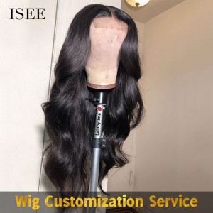 Custom Made Hair Wig Handicraft Fee, Custom Machine Sew in Lace Front Wig | ISEE HAIR