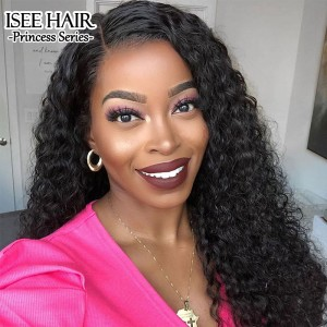 ISEE HAIR Kinky Curly 360 Lace Wigs 100% Human Virgin Hair 360 Wigs