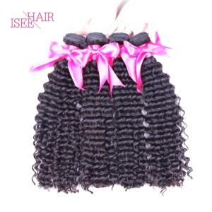 ISEE HAIR 10A Grade 100% Human Virgin Hair unprocessed Mongolian Deep Curly 4 Bundles Deal