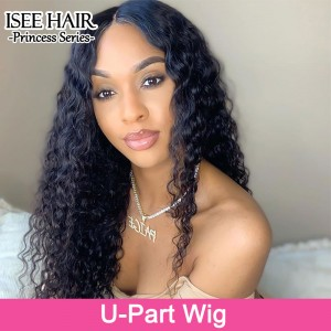 ISEE HAIR New Arrival Upart Wig , Natural Black Deep Curly Wigs
