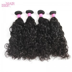 ISEE HAIR 10A Grade 100% Human Virgin Hair unprocessed Peruvian Natural Wave 4 Bundles Deal