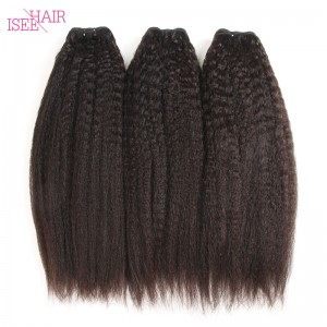 ISEE HAIR 10A Grade 100% Human Virgin Hair unprocessed Mongolian Kinky Straight 3 Bundles Deal