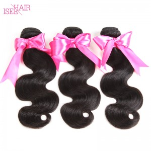 ISEE HAIR 10A Grade 100% Human Virgin Hair unprocessed Peruvian Body Wave 3 Bundles Deal