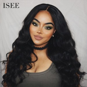 ISEE HAIR 9A Grade 100% Human Virgin Hair unprocessed Indian Body Wave 4 Bundles with Frontal Deal