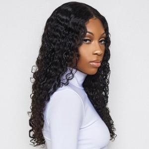 ISEE HAIR 9A Grade 100% Human Virgin Hair Brazilian Deep Curly 3 Bundles with Closure Deal