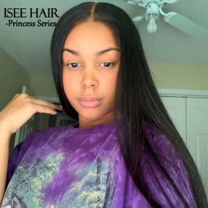 HYPNOTICLAADYY - Silkest Straight Lace Frontal Wig Preplucked Natural Hairline Brazilian | ISEEHAIR