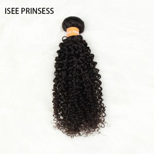ISEE PRINCESS - Kinky Curly Bundles with Frontal Deal 100% Human Virgin Hair