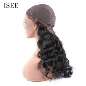 ISEE 180% Density Lace Frontal Wig Loose Wave, 100% Human Virgin Hair Loose Wave