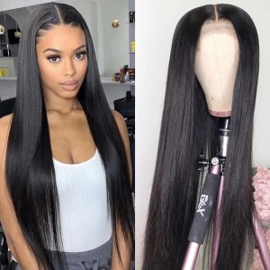 ISEEHAIR Silky Straight Melt HD Lace Closure/Front Wig