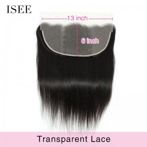 ISEE HAIR 13*6 Transparent Lace Frontal for All Hair Texture
