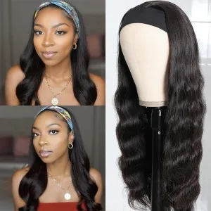 ISEEHAIR Body Wave Headband Wig Human Hair Glueless Wig For Black Women
