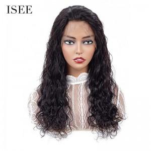 ISEEHAIR 13x4 brésilien vague naturelle dentelle avant perruques de cheveux humains avant perruques de dentelle avec des cheveux de bébé préplumés ligne de cheveux naturelle 150%