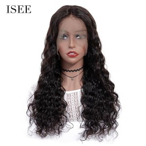 ISEE 250% Density Lace Frontal Wig Loose Deep, 100% Human Virgin Hair Loose Deep