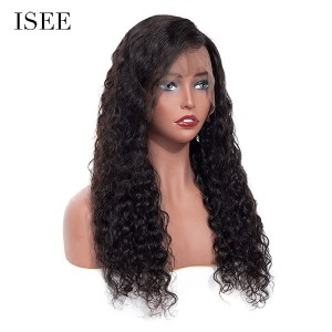 ISEE 180% Density Lace Frontal Wig Water Wave, 100% Human Virgin Hair Water Wave