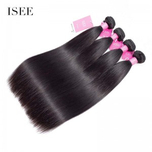 ISEE HAIR 9A Grade 100% Human Virgin Hair unprocessed Peruvian Straight Hair 4 Bundles Deal