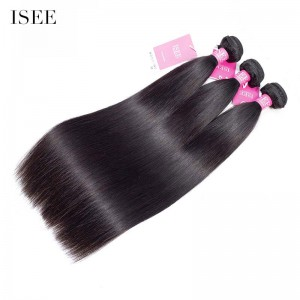 ISEE HAIR 9A Grade 100% Human Virgin Hair unprocessed Peruvian Straight Hair 3 Bundles Deal