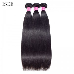 ISEE HAIR 10A Grade 100% Human Virgin Hair unprocessed Malaysian Straight Hair 3 Bundles Deal