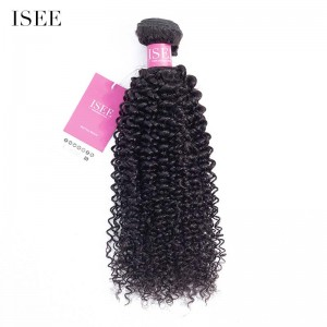 ISEE HAIR 9A Grade 100% Human Virgin Hair unprocessed Kinky Curly 1 Bundle