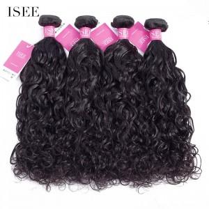 ISEE HAIR 9A Grade 100% Human Virgin Hair unprocessed Indian Natural Wave 4 Bundles Deal
