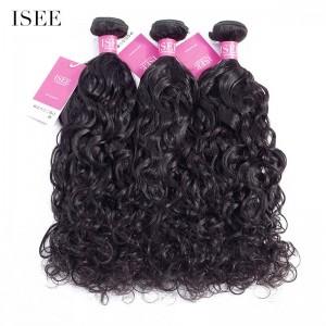 ISEE HAIR 9A Grade 100% Human Virgin Hair unprocessed Indian Natural Wave 3 Bundles Deal