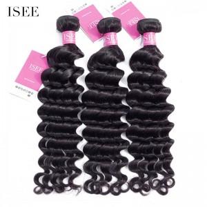ISEE HAIR 9A Grade 100% Human Virgin Hair unprocessed Indian Loose Deep 3 Bundles Deal