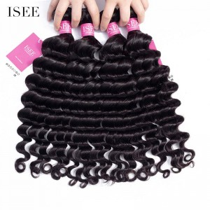 ISEE HAIR 9A Grade 100% Human Virgin Hair unprocessed Peruvian Loose Deep 4 Bundles Deal