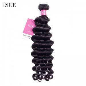 ISEE HAIR Loose Deep 1 Bundles Deal 9A Grade 100% Human Virgin Hair unprocessed