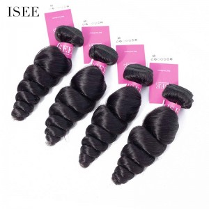 ISEE HAIR 9A Grade 100% Human Virgin Hair unprocessed Peruvian Loose Wave 4 Bundles Deal