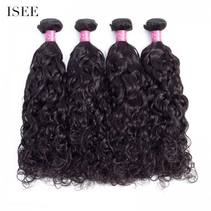 ISEE HAIR 10A Grade 100% Human Virgin Hair unprocessed Natural Wave 4 Bundles Deal