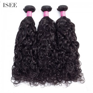 ISEE HAIR 10A Grade 100% Human Virgin Hair unprocessed Natural Wave 3 Bundles Deal