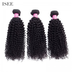 ISEE HAIR 10A Grade 100% Human Virgin Hair unprocessed Kinky Curly 3 Bundles Deal