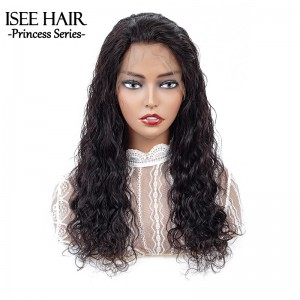 ISEE HAIR Natural Wave Lace Front Wig,Pre Plucked Natural Hair Liner with Baby Hair, 100% Human Virgin Hair Wigs