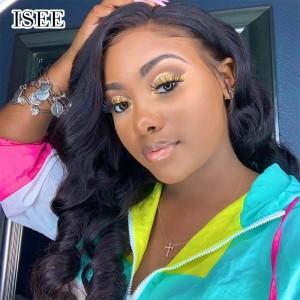 ISEE 150% Density Lace Frontal Wig Loose Wave, 100% Human Virgin Hair Loose Wave