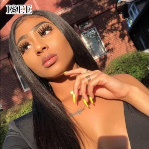 ISEE HAIR Straight 360 Lace Wigs 100% Human Virgin Hair 360 Wigs