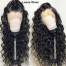 ISEE HAIR Wave Texture Transparent Lace Front Wig, 100% Human Virgin Hair