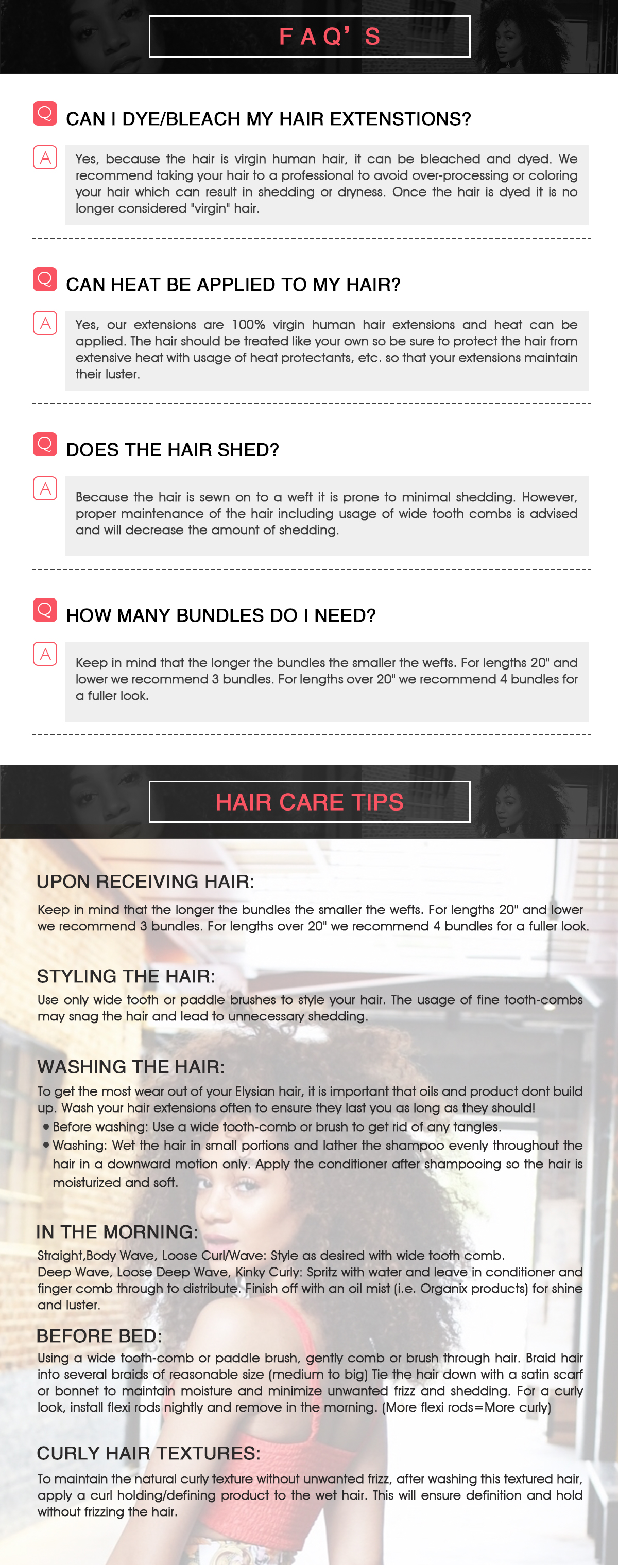 FAQ and Hair Care Tips